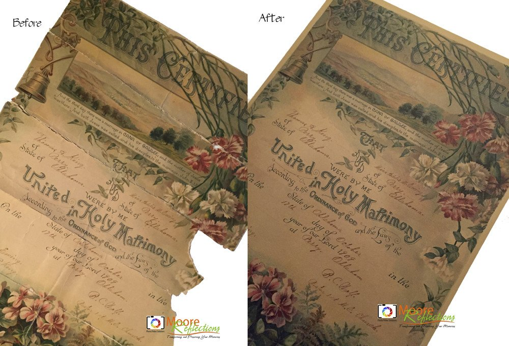 Restoration of a Marriage Certificate